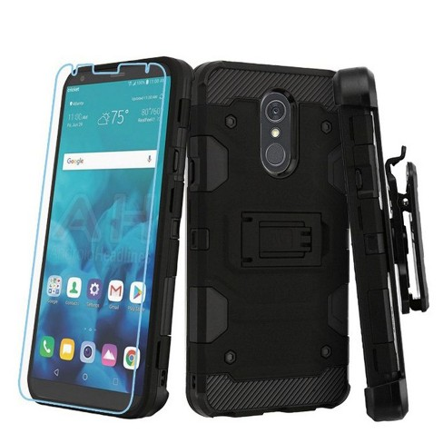 Insten 3-in-1 Storm Tank with Screen Protector Hard Cover Case For LG Stylo 4/Stylo 4 Plus - Black - image 1 of 4