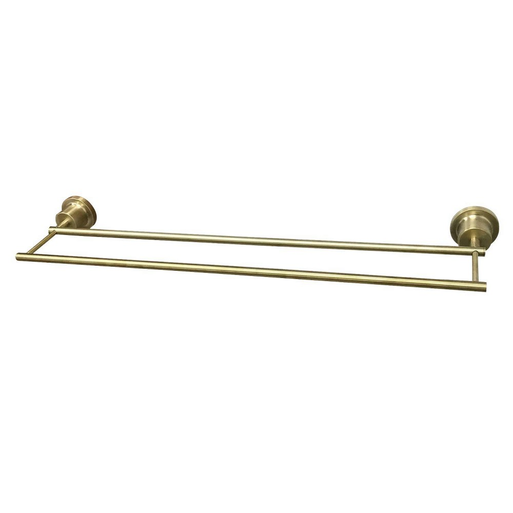 "Image of ""18"""" Concord Double Towel Bar Brushed Brass - Kingston Brass"""
