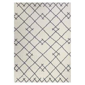 5'X7' Kenya Tribal Design Tufted Area Rugs Cream - Project 62™
