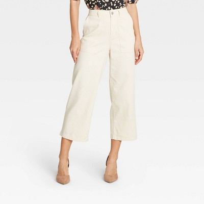 Women's Mid-Rise Regular Fit Wide Leg Pants - Who What Wear™