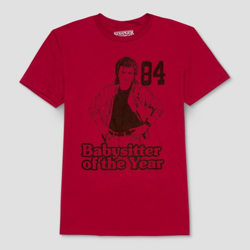 83d21399ced Men s Short Sleeve Stranger Things Crew Neck T-Shirt - Wave Red S ...