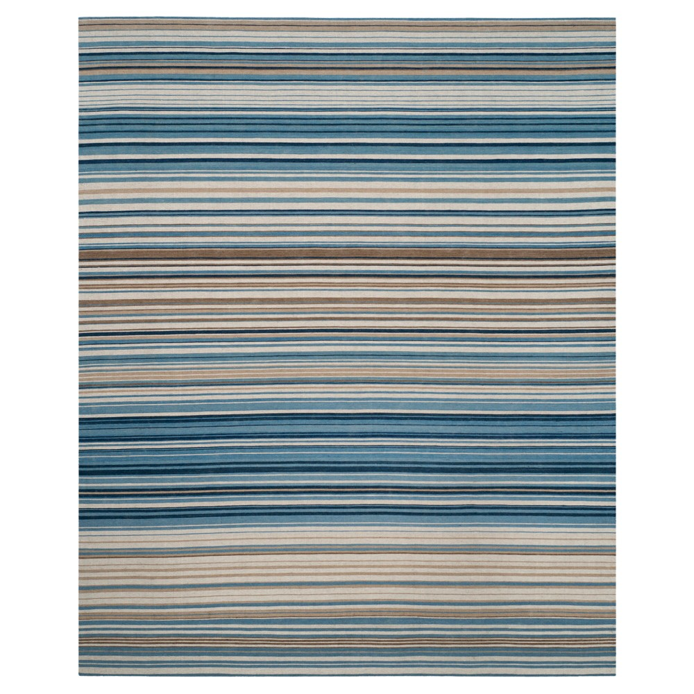 Blue/Multi Stripes Tufted Area Rug - (9'X12') - Safavieh