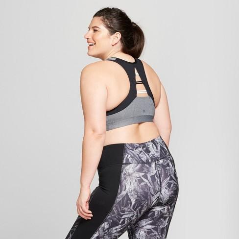 cb152d1c5819d Women s Plus Size Strappy Back Sports Bra - C9 Champion® Dark Heather Gray  4X   Target