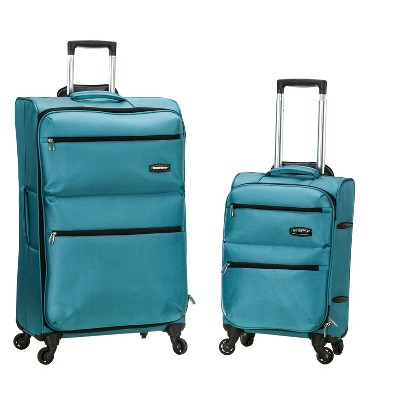 Rockland Gravity 2pc Light Weight Luggage Set - Turquoise