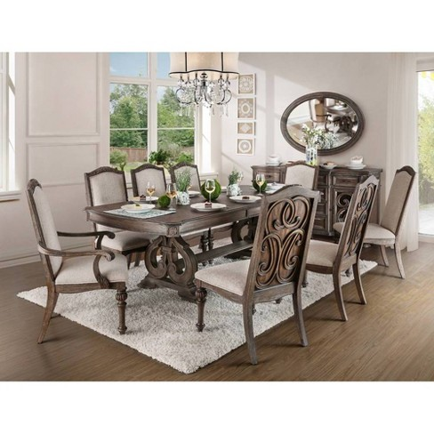 96 Darja Formal Dining Table Brown Homes Inside Out