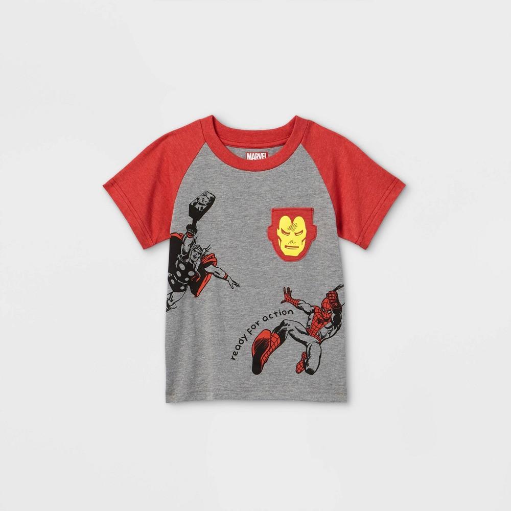 Toddler Boys 39 Marvel Superheroes Pocket Short Sleeve T Shirt Cream 12m