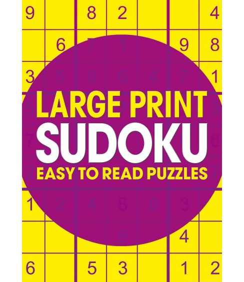 Large Print Sudoku : Easy to Read Puzzles (Paperback) - image 1 of 1
