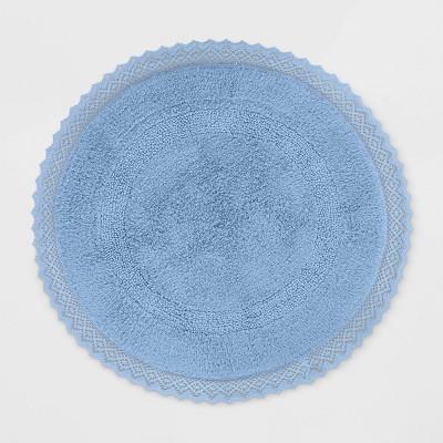 Round Bath Rug Blue - Opalhouse™