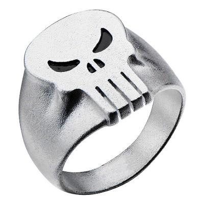 Men's Marvel® Punisher Stainless Steel 3D Logo Ring