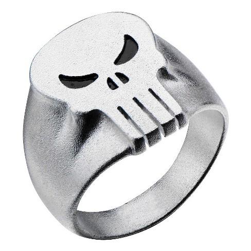 Men's Marvel® Punisher Stainless Steel 3D Logo Ring - image 1 of 2