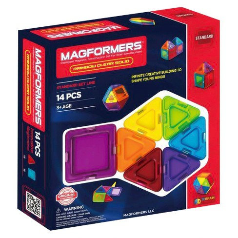 Magformers Solids Clear Rainbow 14 PC Set - image 1 of 5