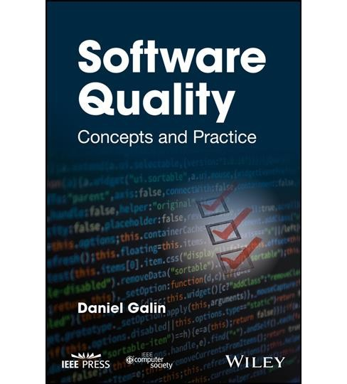 Software Quality : Concepts and Practice -  by Daniel Galin (Hardcover) - image 1 of 1