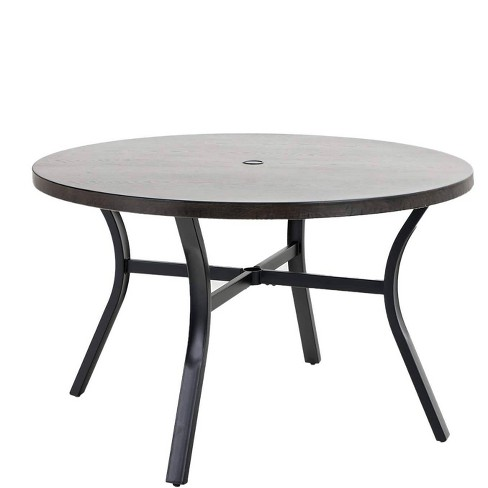 """48"""" Metal Round Dining Table with 1.97"""" Umbrella Hole - Black - Captiva Designs - image 1 of 3"""