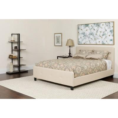 Flash Furniture Tribeca Button Tufted Upholstered Platform Bed