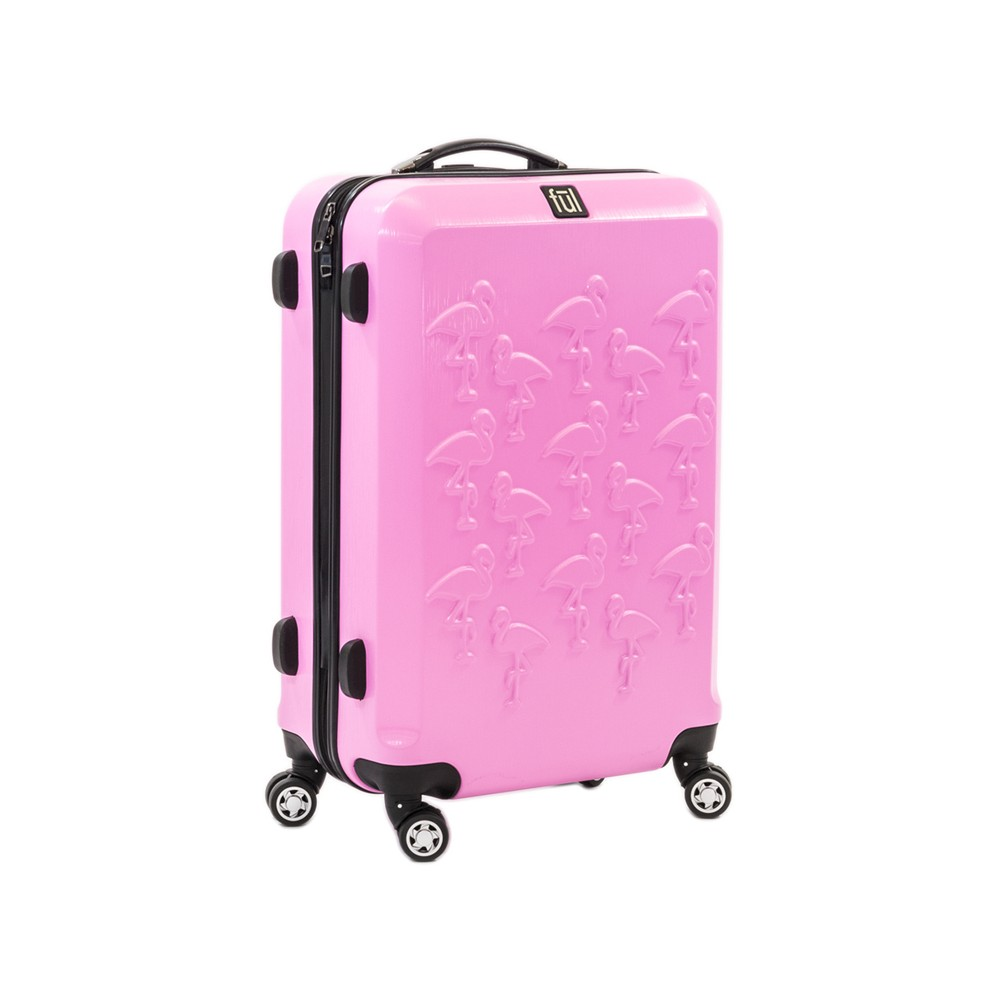 Ful 21 Abs Expandable Hardside Spinner Carry On Suitcase - Flamingo, Pink