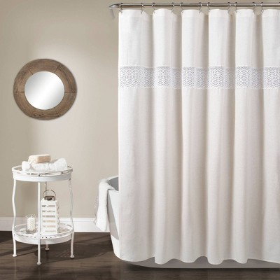 Dana Lace Shower Curtain White - Lush Decor