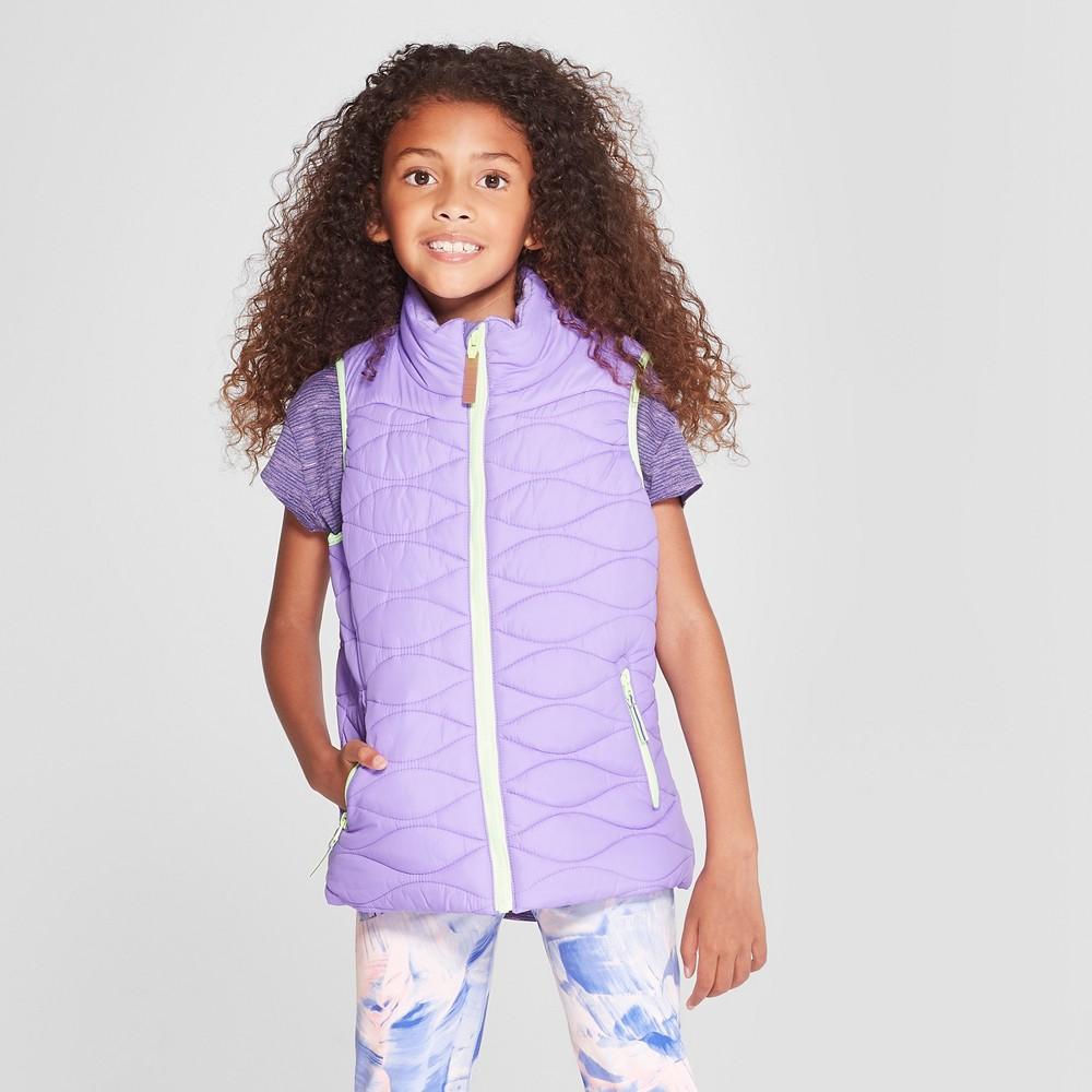Girls' Puffer Vest - C9 Champion Purple L