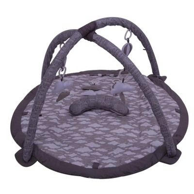 Bacati - Baby Activity Gyms & Playmats (Clouds in the City White/Grey)