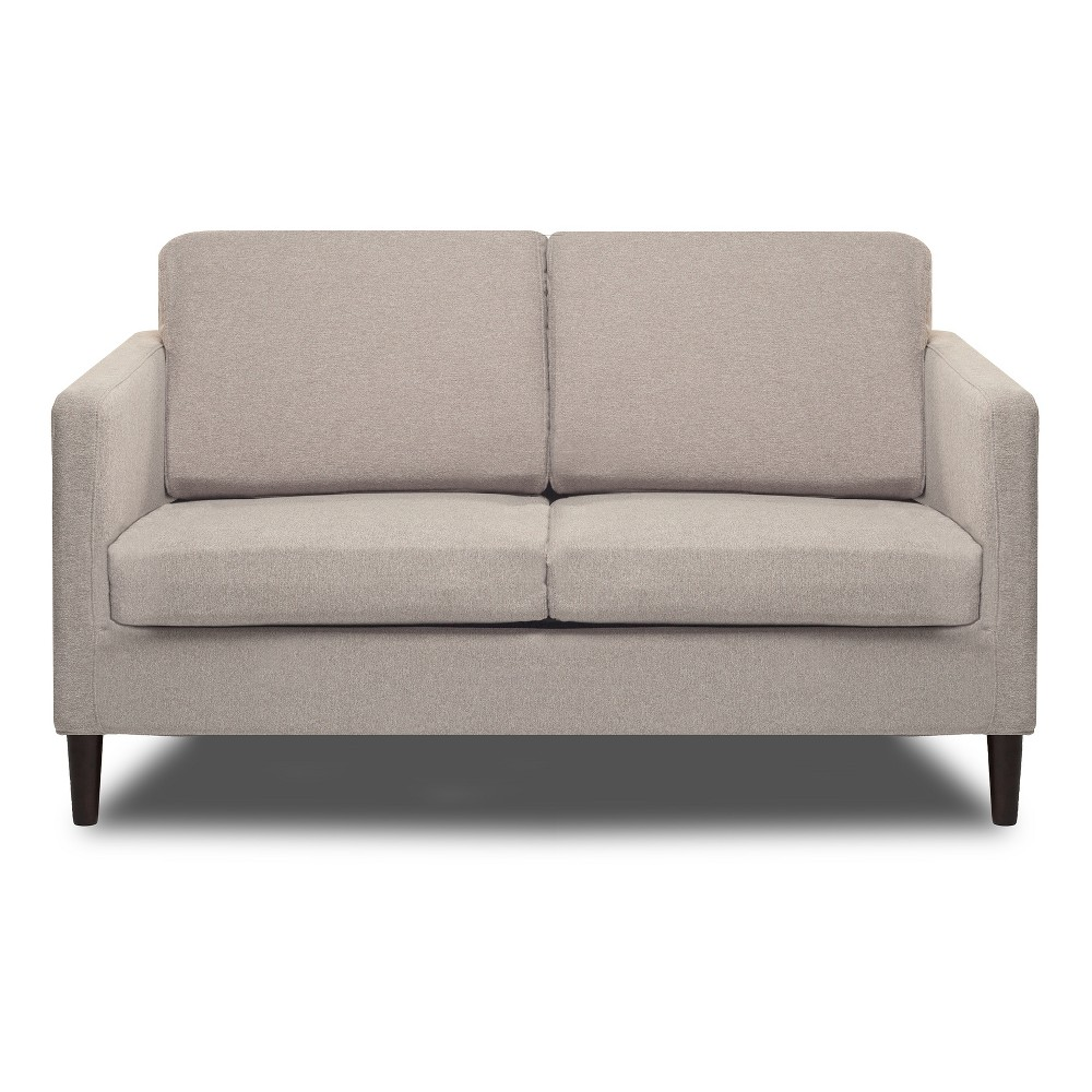 Image of Axis Loveseat Cotton Flax Light Pebble - Sofas 2 Go