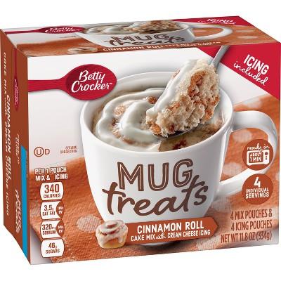Betty Crocker Mug Treats Cinnamon Roll Mug Mix - 4ct/11.8oz