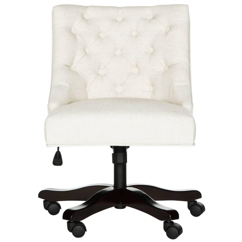 Soho Tufted Swivel Desk Chair Cream (Ivory) - Safavieh