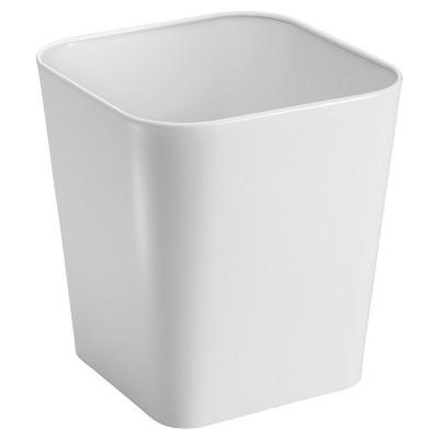 Gia Bathroom Waste Can White - InterDesign®