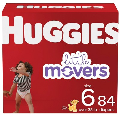 Huggies Little Movers Baby Diapers - Size 6 - 84ct
