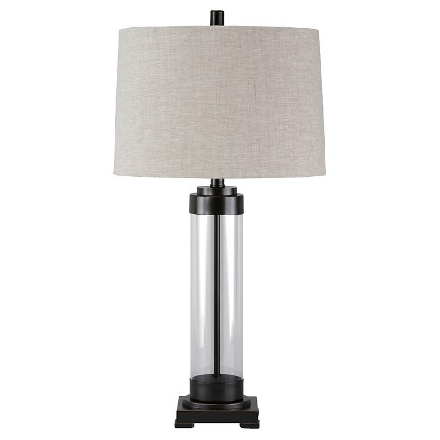 Talar Table Lamp Clear Bronze Finish Signature Design By Ashley