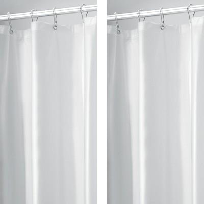 mDesign Waterproof Vinyl Shower Curtain Liner - 2 Pack