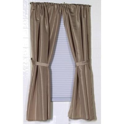 """Carnation Home Fashions """"Lauren"""" Diamond-Piqued Bathroom Window Curtain (34""""x54"""")"""