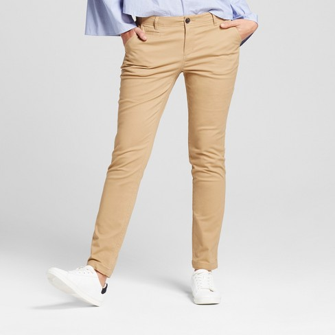 Women's Straight Leg Slim Chino Pants - A New Day™ - image 1 of 3