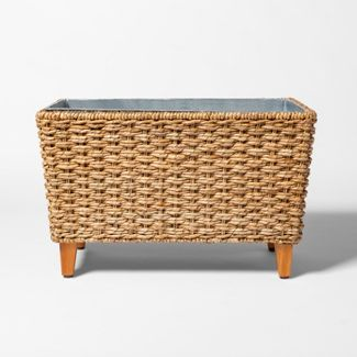 15L Woven Seagrass Cooler with Galvanized Tin Insert Khaki - Threshold™