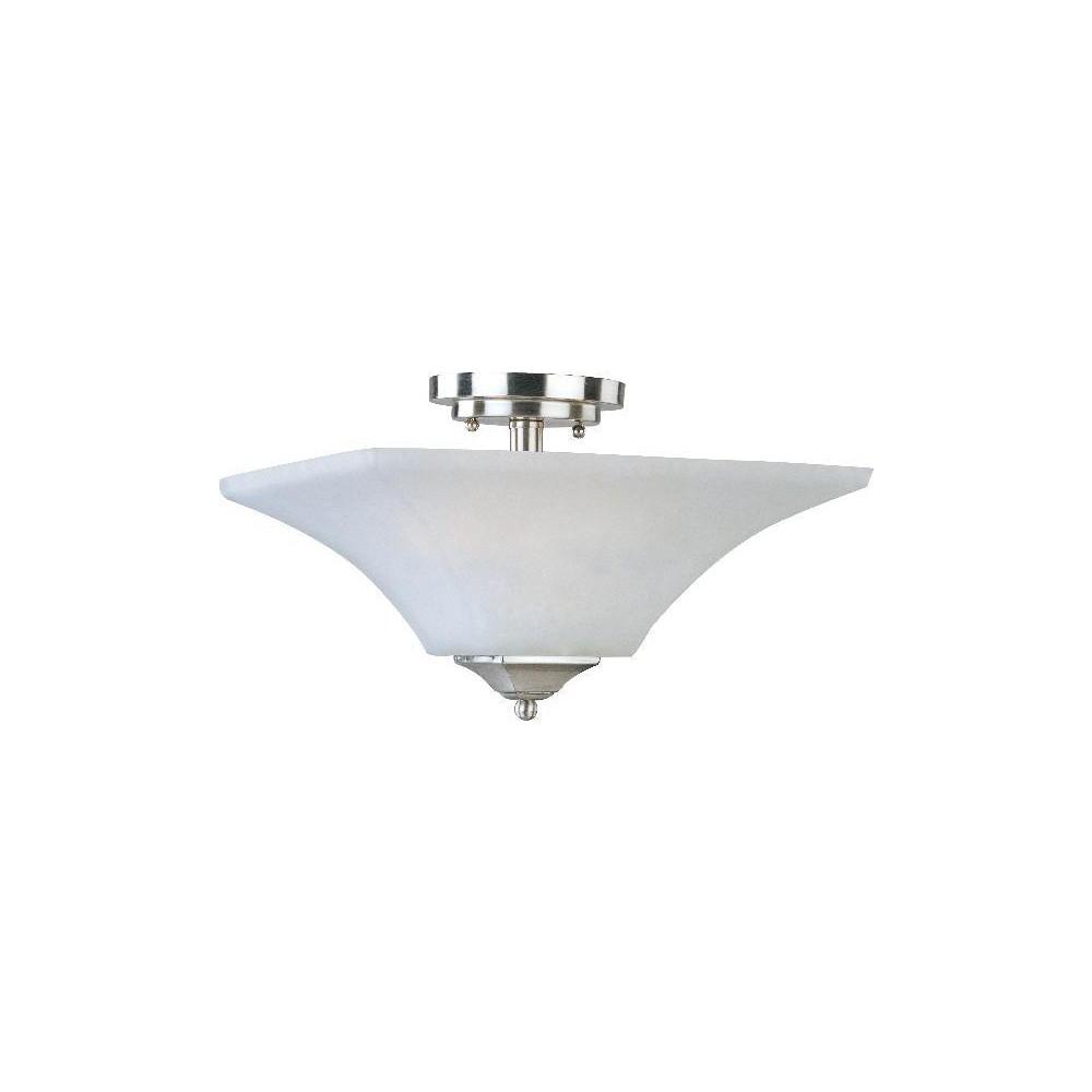 Image of Aurora 2 Light Semi Flush - Satin Nickel