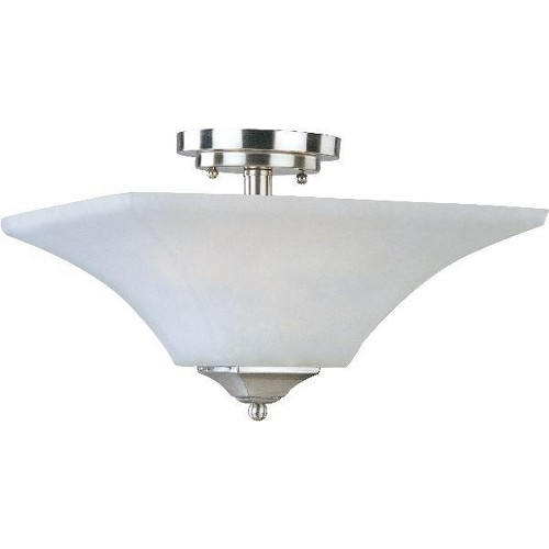 Aurora 2 Light Semi Flush - Satin Nickel