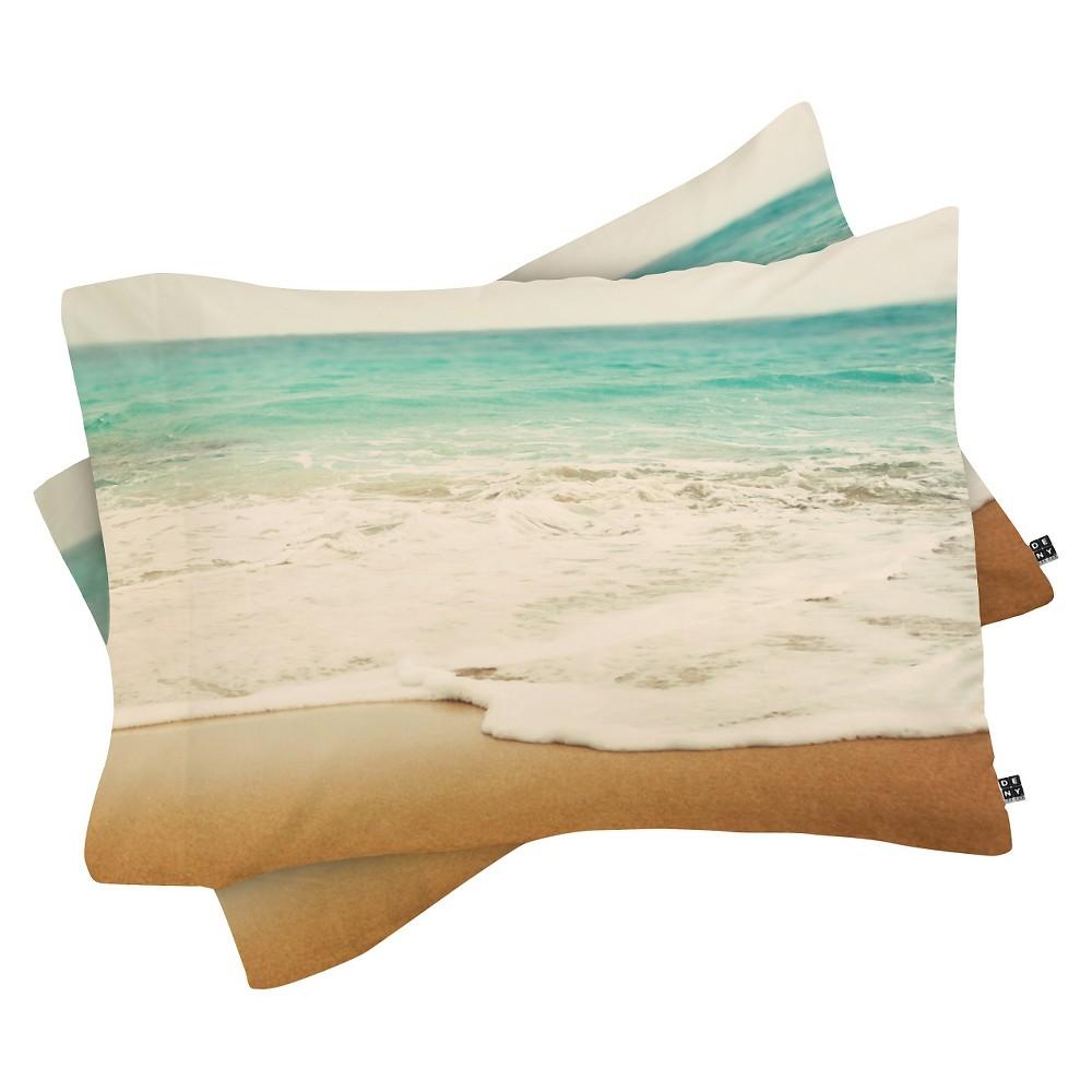 Image of Bree Madden Ombre Beach Pillow Sham (Standard) Blue Ocean 1 pc - Deny Designs