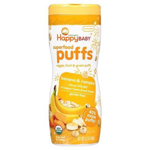 Happy Baby Organic Banana Puffs - 2.1oz - image 1 of 4