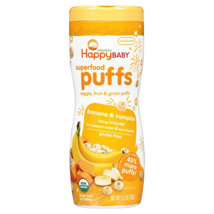 Happy Baby Organic Banana Puffs - 2.1oz - image 1 of 4