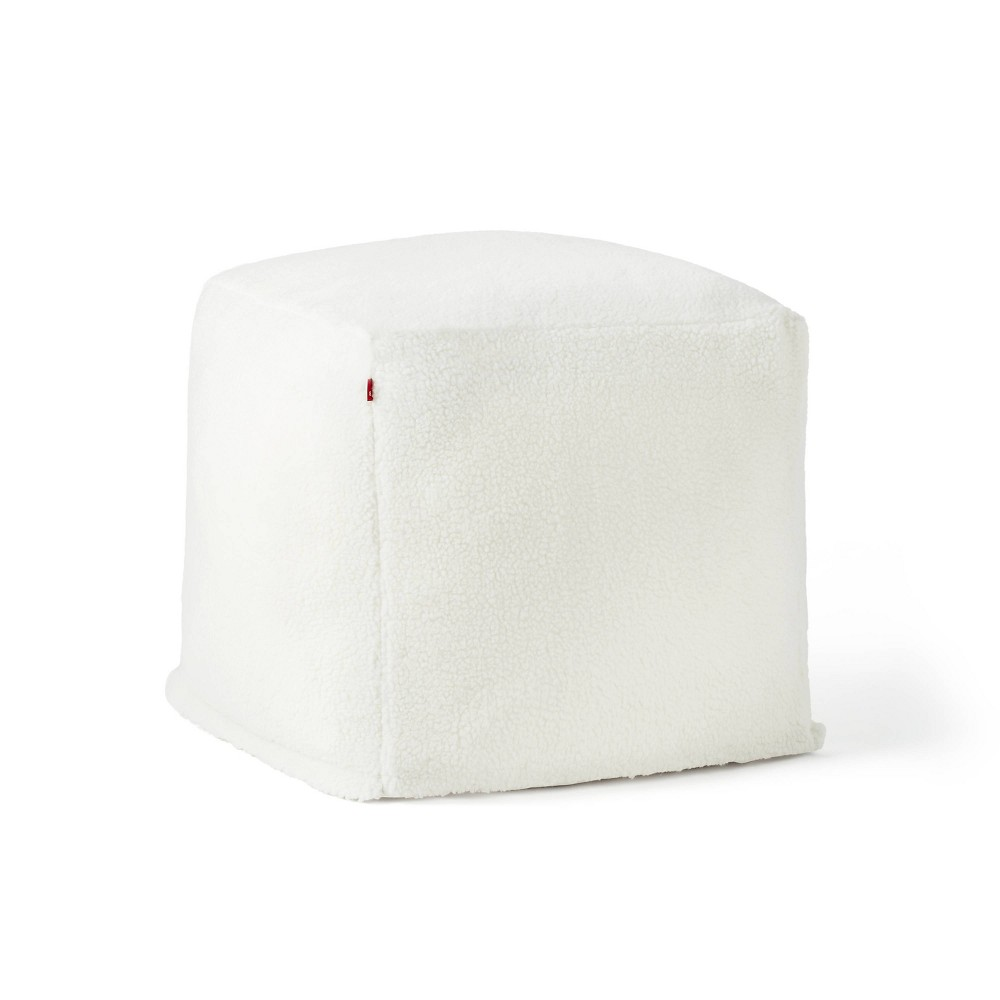 Sherpa Square Pouf Cream Levi 39 S 174 X Target