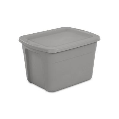 18gal Storage Tote Gray - Room Essentials™