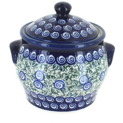 Blue Rose Polish Pottery Seaside Swirl Small Canister
