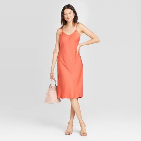 Women's Sleeveless Satin Slip Dress - A New Day™ - image 1 of 3
