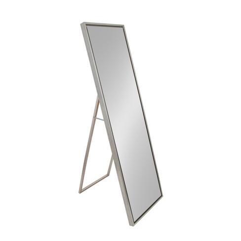 18 X 58 Evans Free Standing Floor, White Floor Mirror With Easel