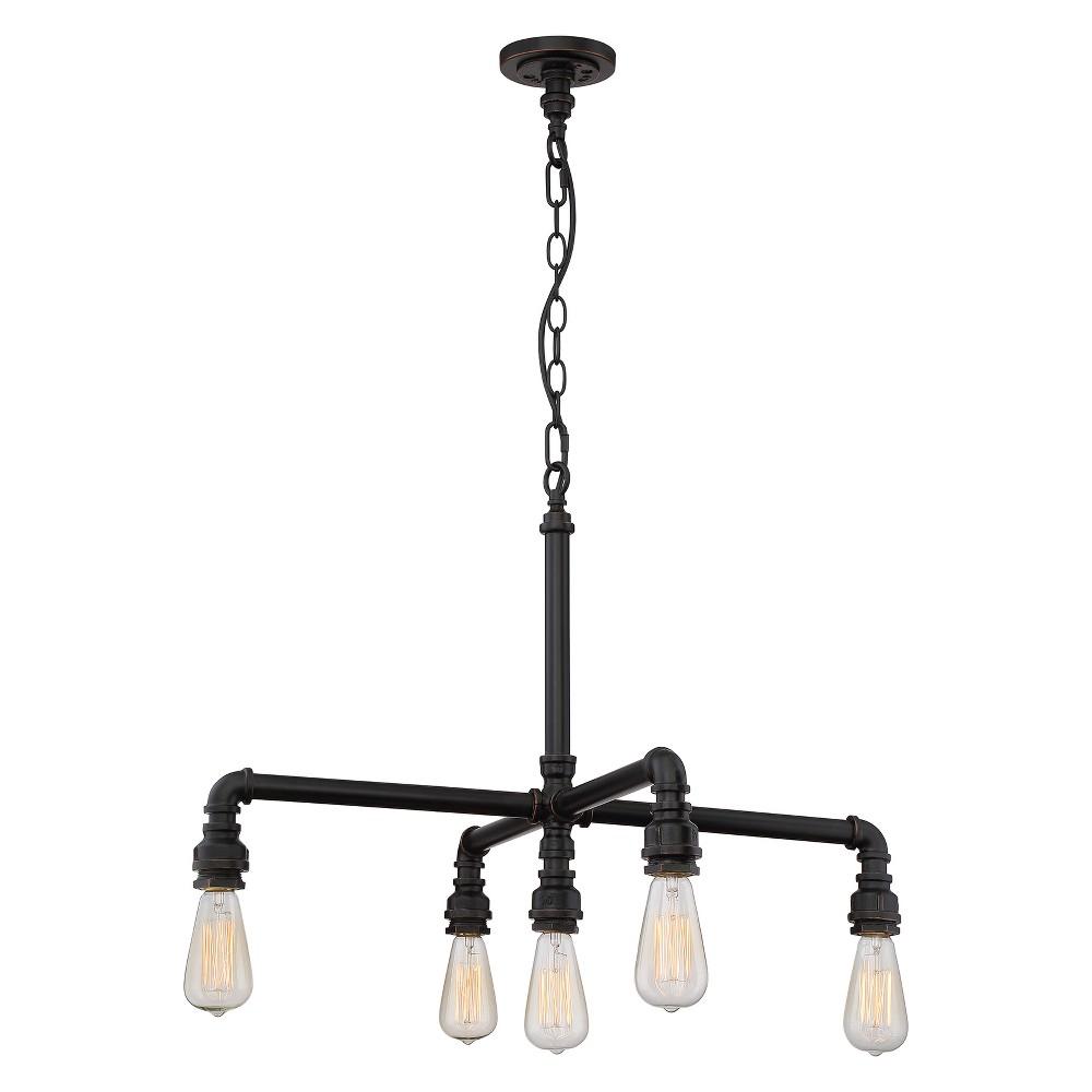 Image of Ceiling Lights Chandelier Industrial Bronze - Aurora Lighting
