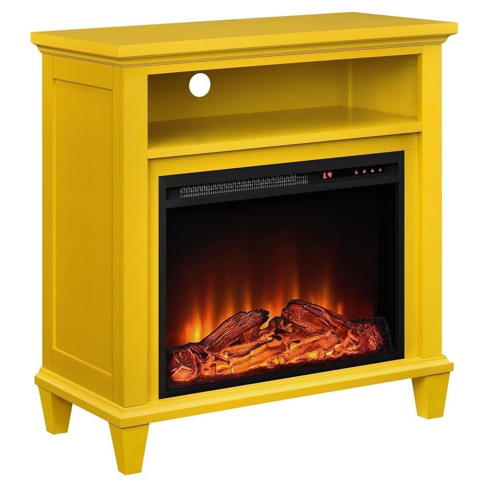 Ellington Accent Media Fireplace - Yellow - Altra