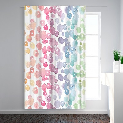 Americanflat Rainbow Abstract 9 by Victoria Nelson Blackout Rod Pocket Single Curtain Panel 50x84