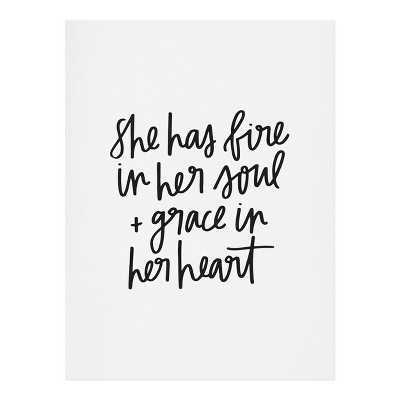 Chelcey Tate Grace In Her Heart Art Print Unframed Wall Poster White - Deny Designs