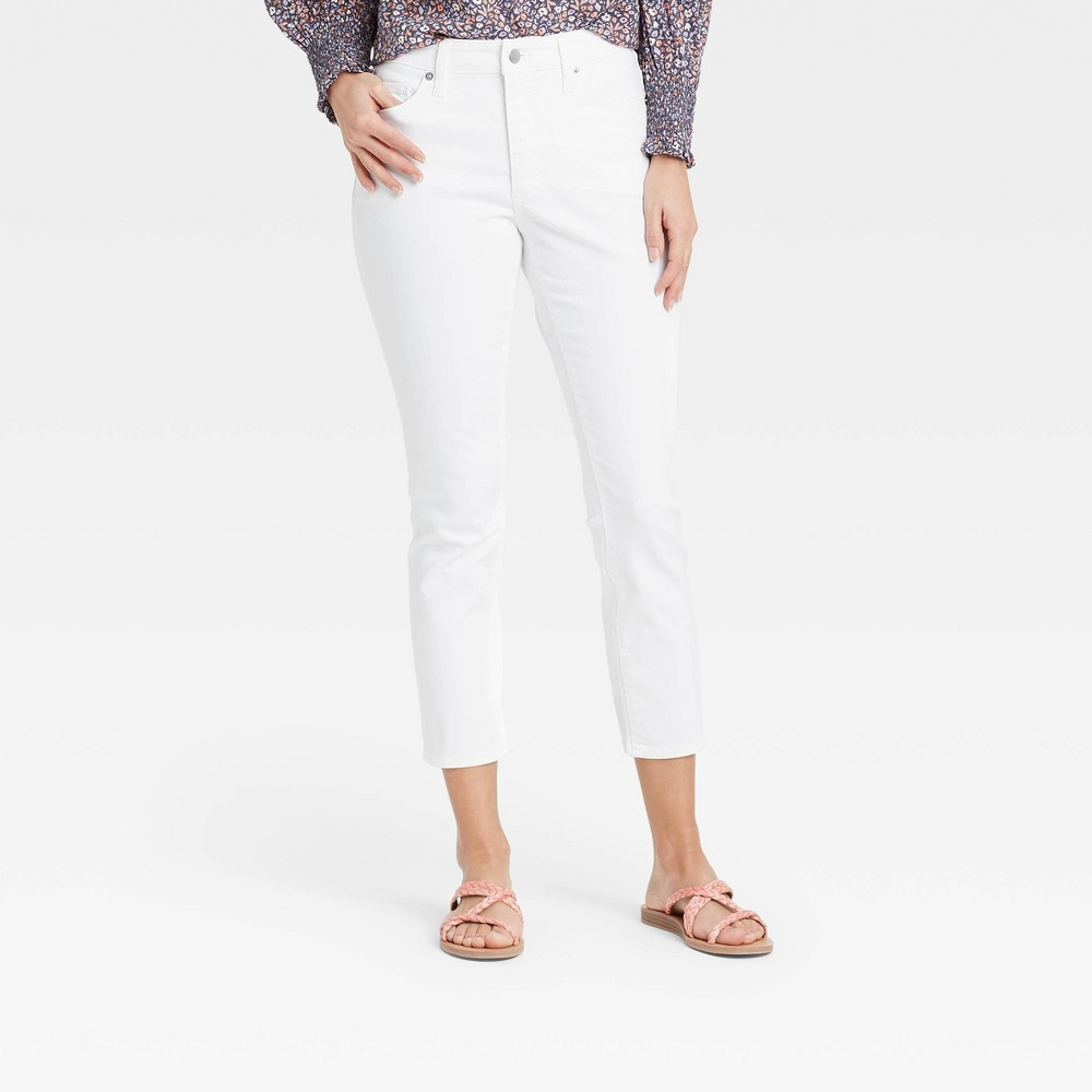 Women 39 S High Rise Skinny Cropped Jeans Universal Thread 8482 White 6