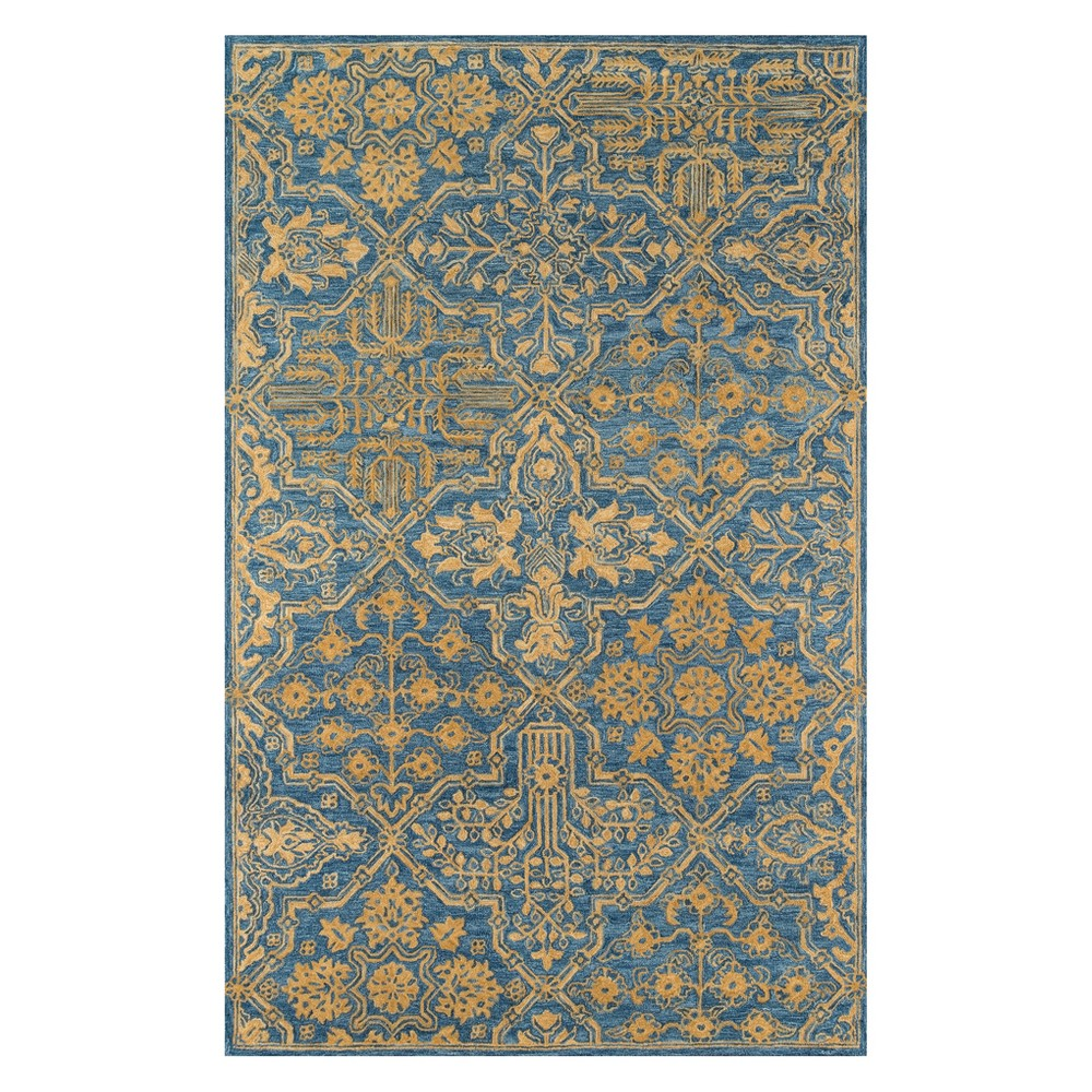8'X11' Geometric Tufted Area Rug Blue - Momeni