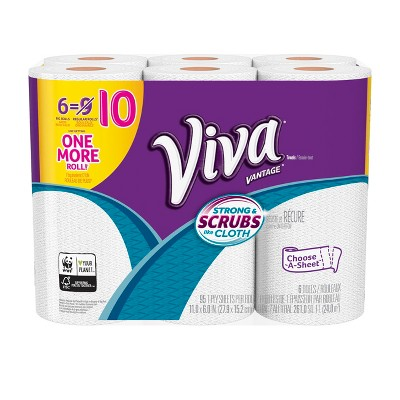 Viva Vantage Choose-a-Sheet Paper Towels - 6 Big Rolls