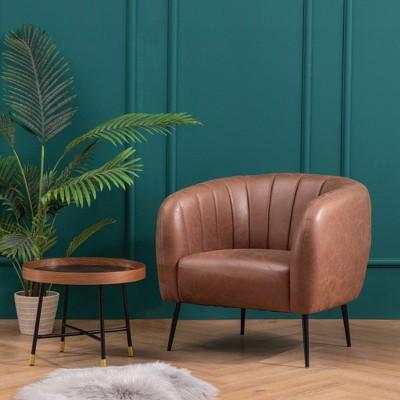 ELuxury Modern Channel Accent Chair : Target
